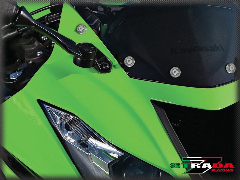 Strada 7 Racing CNC Windscreen Bolts M5 Wellnuts Set Gold For Suzuki SV1000//S