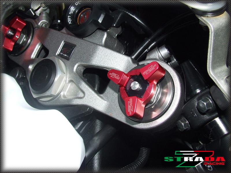 Strada 7 Racing CNC Handle Bar Ends Red For Honda CBR600RR